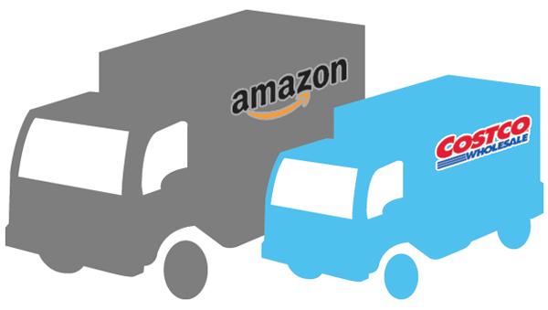 Costco Amazon comparison trucks