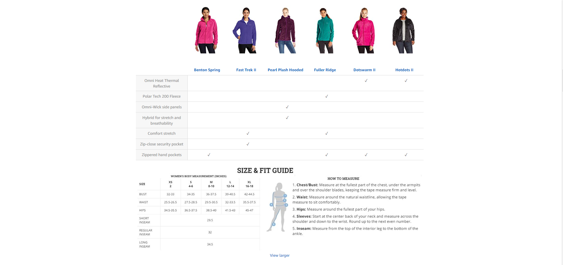 Columbia jacket Amazon fashion content