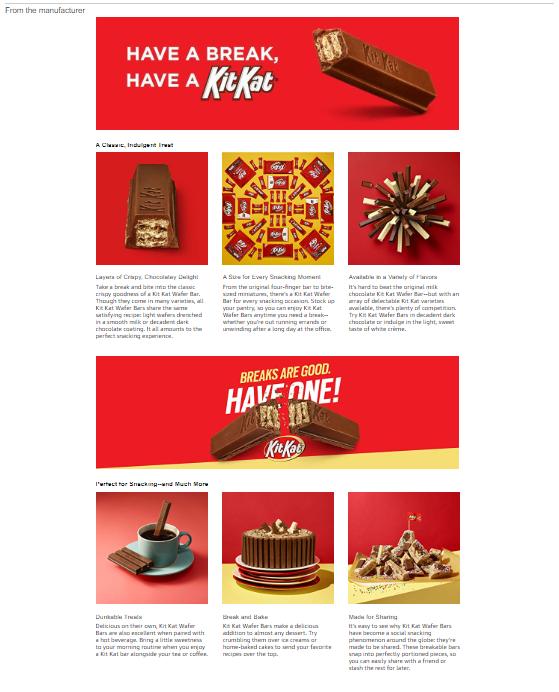 Kit Kat enhanced content