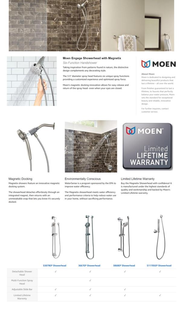 Amazon kitchen and bath Moen
