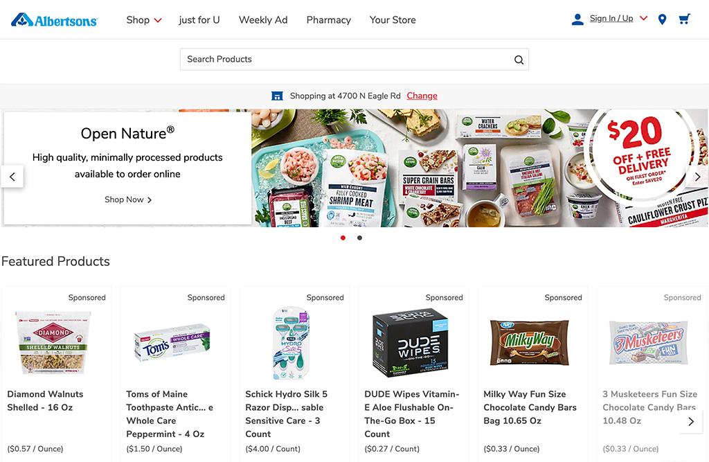 Online grocery advertising: Albertsons