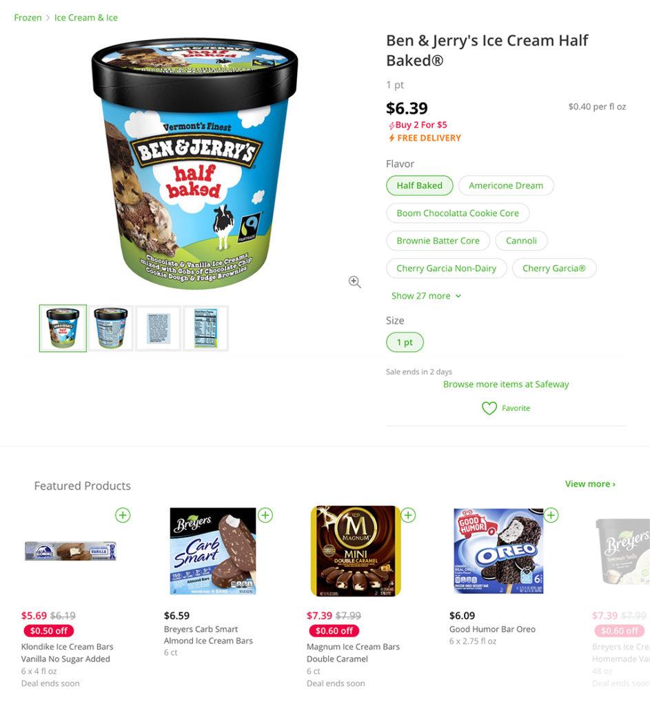 Online grocery advertising: Instacart