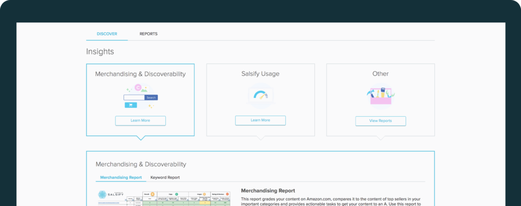 product information managment dashboard